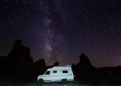 Trona Pinnacles Milky Way la van