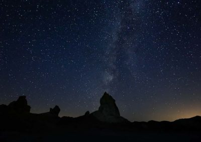 trona pinnacles Milky Way pre dawn
